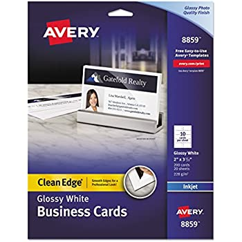 Amazon Avery 8373 Print To The Edge Microperf Business Cards