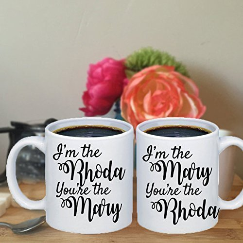Stuffy Blue Dragon Costume (I'm The Mary, You're The Rhoda Best Friend Coffee Mugs Friendship Mugs Best Friend Gift Set 2 of Coffee Mugs)