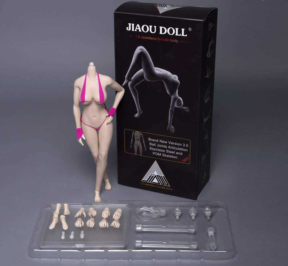 "JIAOU DOLL 1//6 Female Flexible Seamless Silicone Body 12/"" Action Figure Model US"