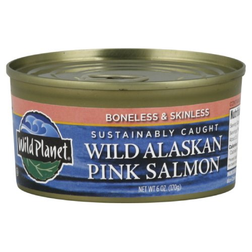 Wild Planet Wild Pink Salmon, 6-ounces (Pack of4)