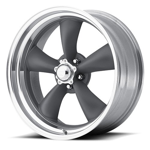 American Racing VN215 Сustom Wheel - Classic Torq Thrust Ii Gray with Polished Lip 15