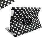 Sanoxy 360 Degrees Rotating Stand PU Leather Case for iPad 2/3/4, iPad 2nd generation, PolkaDot (SANOXY_360IPAD-POLKA-BKWE)
