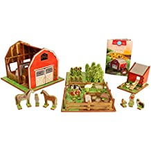 Farm Playset with Barn, Animals, Barnyard, Crops, Chicken Coop and Storybook