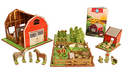 STORYTIME TOYS Farm Playset with Barn, Animals, Barnyard, Crops, Chicken Coop and Storybook