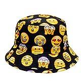 City Hunter Bd1250 Face Emoji Bucket Hats - Black