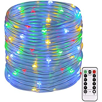 Smart&green Lighting String Lights Outdoor, 120 Led 46ft Waterproof Fairy Lights Dimmable/Timmer Battery Powered Decorative Lights with Remote for Garden ...