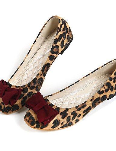 PDX/ Damenschuhe-Ballerinas-Lässig-Lackleder-Flacher Absatz-Komfort / Rundeschuh-Leopard , leopard-us5.5 / eu36 / uk3.5 / cn35 , leopard-us5.5 / eu36 / uk3.5 / cn35