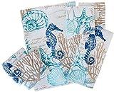 Coastal Home North Shore Print Bath Towel Collection Bath Towel White/Blue