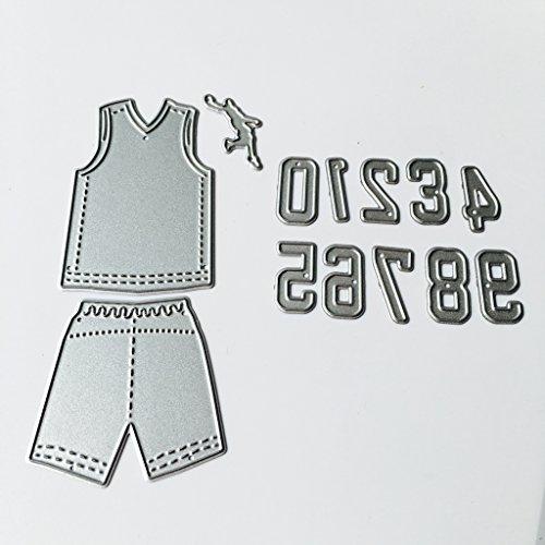 Sample9 DIY Metal Scrapbooking Paper Card Craft Jersey Number Cutting Dies Stencil DIY Scrapbooking Album Card For Sports ()