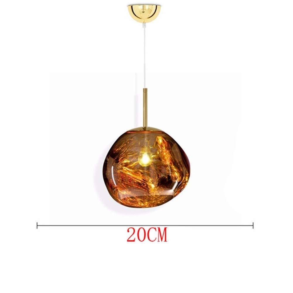 Moderne 100% Glas Lichter Led Kronleuchter Schmelze Lava Pendelleuchten Wohnzimmer Schlafzimmer HangLamps Restaurant Home Beleuchtung, D
