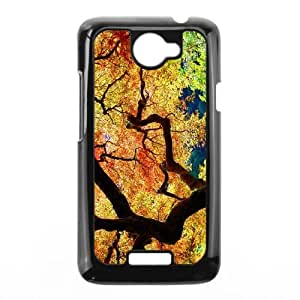 Maple Tree Branch HTC One X Cell Phone Case Black E0575603