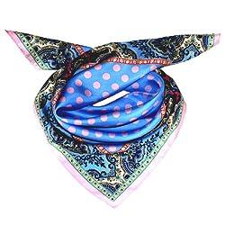 LORENZO CANA - Italian Luxury Silk Scarf 100% Silk , 70 x 70 cm , 28