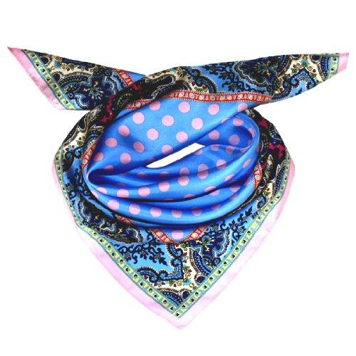 Womens Italian Silk - LORENZO CANA Italian Luxury Pure Silk Scarf 28x28
