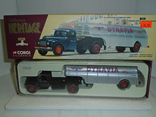 Citroen Type - Corgi Classic Heritage Collection 1/50 scale Citroen Type 55 Semi-citerne Fruehauf Dynavia 74601 die cast Vehicle