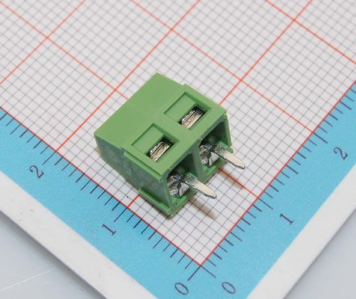 YXQ 30Pcs 5mm Pitch 2 Pole PCB Mount Screw Terminal Block Straight Pin Arduino Strips Socket,300V//12A Connector Green
