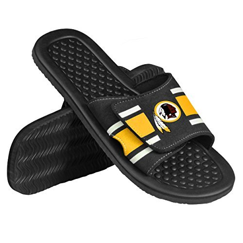 db4b1ee68 2015 NFL Football Mens Stripe Shower Slide Beach Summer Sandal Flip Flops