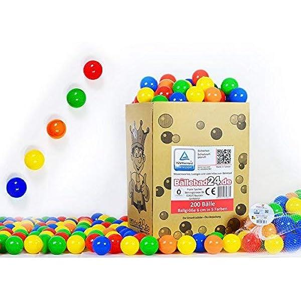 koenig-tom - Bolas de plástico para Piscina de Bolas de niños (200 ...