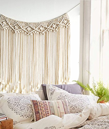 "Macrame Wedding Backdrop Macrame Fringe Banner Home Décor Handwoven,37""Wx35""L"