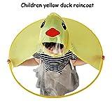 Raincoat, Rain Coat UFO Children Umbrella Hat Magical Hands Free Raincoat (M, Yellow)