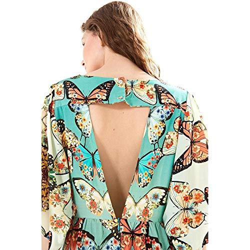 8ff822c85 Vestido Curto Primavera Borboleta Est Primavera De Borboleta Azul Mineral -  G: Amazon.com.br: Amazon Moda