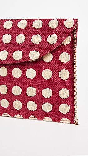 Women's Clutch Red Tulum Kayu Women's Kayu TZxqYYE