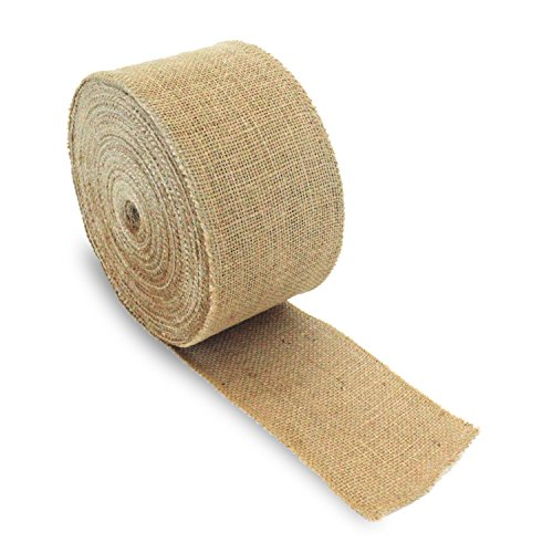 Craft Burlap Ribbon No Fray Edges 4 Inches by 50 Yards Wreath Ribbon -