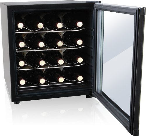 Culinair aw162s thermoelectric 16 bottle wine cooler for Modern homes 8 bottle wine cooler