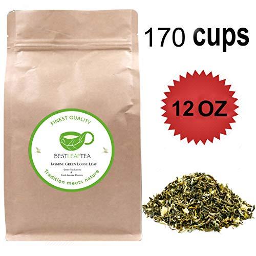 BESTLEAFTEA-2019 New Tea Spring Picked Premium Quality Jasmine Loose Leaf Tea ()