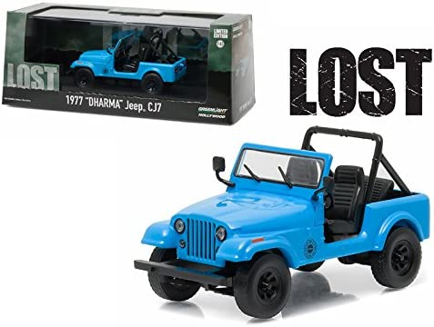 "Greenlight Jeep CJ7 1977 /""Dharma/"" Lost 1//43 86309"