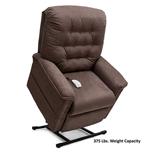 Pride LC-358PW (Petite Wide) Heritage 3-Position Lift Chair with Inside Delivery and Setup Option (Cloud 9 Walnut, Inside Delivery and Setup) (Chair Walnut Wide)