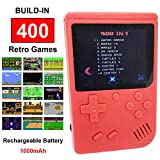 Mini Retro Handheld FC Games Consoles ,Built-in 400 Classic Game, Portable Gameboy 3 Inch LCD Screen TV Output ,Good Gifts for Kids Boys Girls Men Women (Games Consoles Red)