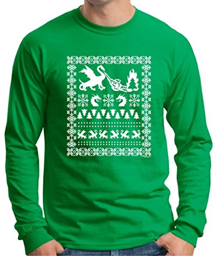 Ugly Christmas Sweater W/Dragons T-Shirt
