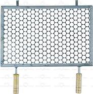 Grelha Retangular De Inox Para Churrasqueira 30x50 Cm