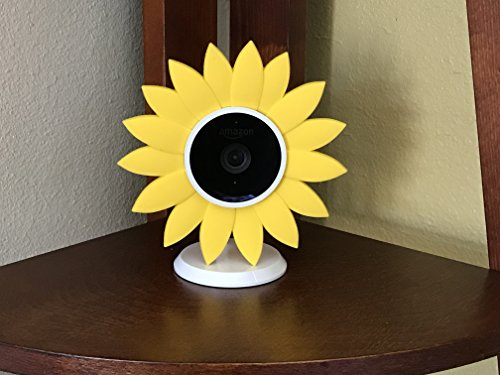 Hide-Your-Cam Sun Flower Camouflage Cover for Amazon Cloud Cam Indoor Security Camera, Skin Case Disguise Protection Decoration