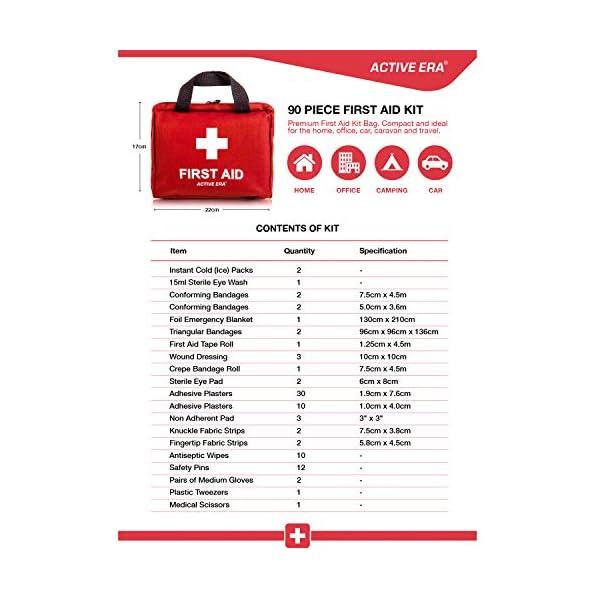 51MISRkpoUL Erste Hilfe Set - 90-teiliges Premium Erste-Hilfe-Set - enthält Sofort Kühlpacks, Augenspülung, Rettungsdecke für zu…