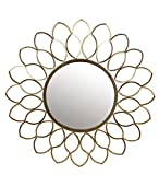 Privilege 41009 Wall Leaf Mirror, Gold