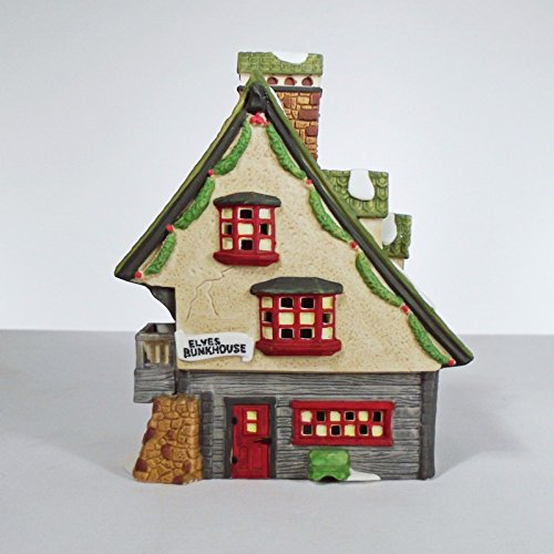 Dept 56 North Pole Collection ''North Pole Elf Bunkhouse''-1990 #5601-4 Retired by Department 56 (Image #4)