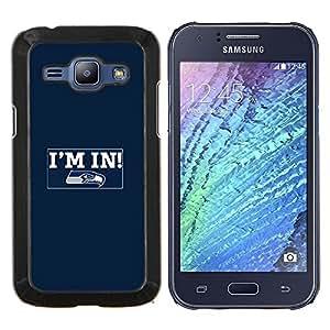 Caucho caso de Shell duro de la cubierta de accesorios de protección BY RAYDREAMMM - Samsung Galaxy J1 J100 - Estoy dentro