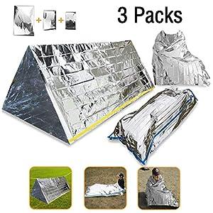 3 en 1 Emergencia Supervivencia Manta para Tienda de campaña Saco de Dormir, Wady Portatil Carpa Refugio De Campamento… 12