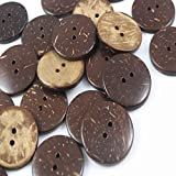 YAKA 100pc New Thick Coconut Shell 2 Holes Button Craft /Sewing/hot Products