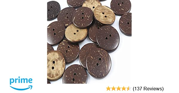420a669242573 Amazon.com  YAKA 100pc New Thick Coconut Shell 2 Holes Button  Craft Sewing hot Products