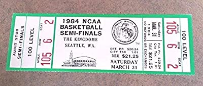 Ncaa Final Four Basketball Full Ticket 1984 Kentucky Georgetown Houston Virginia