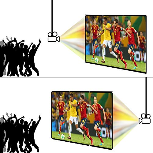 LOVAC 120 Inch Projector Screen,4k Rear Projection Screen 16:9 HD,Foldable Portable Anti-Crease Outdoor Movie Screen for Home Theater (Thin) Photo #7