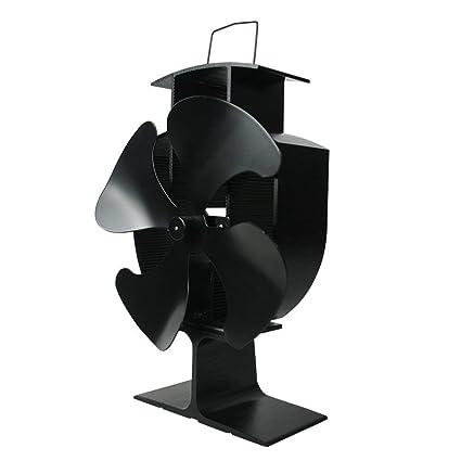 Ventilador de aire caliente de Lincsfire, 4 láminas, respetuoso con el medio ambiente,