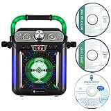 Singing Machine SML682BTBK Bluetooth and CD Kids Karaoke Machine with LED Lights and Microphone - Black