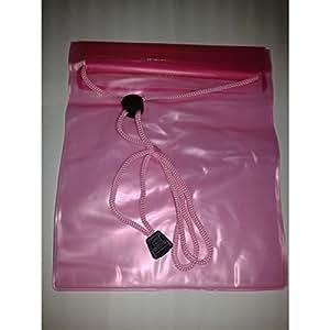 Pcmoviles -- Rosa Transparente Bolsa Impermeable Agua Doble Cierre para ALCATEL one touch idol 6030D