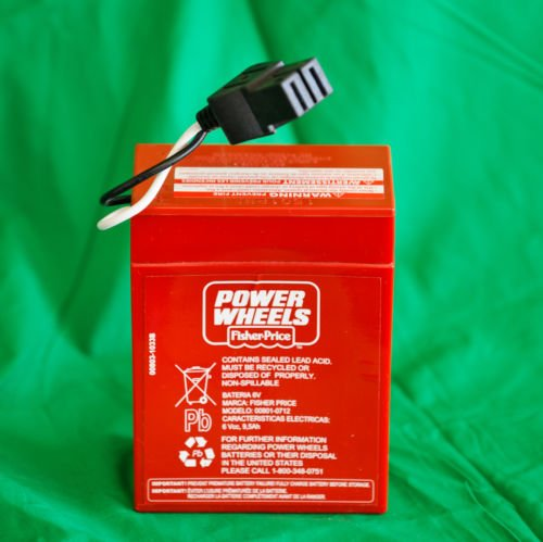 Power Wheels Super 6 Volt Red Battery, 00801-0712 by Powe...