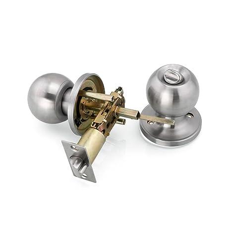 Majsterkowanie Okna, drzwi i schody Stainless Steel Entry Door Knob Lock Room Parts Passage Lockset Home Office Lock