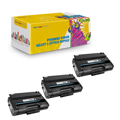 (New York TonerTM New Compatible 3 Pack 406989 High Yield Toner for Ricoh : Aficio SP3500 | SP3500DN | SP3500N | SP3500SF | SP3510 | SP3510DN | SP3510SF. --Black)