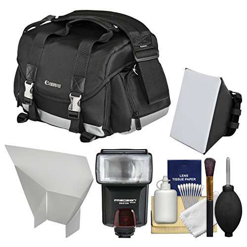 Canon 200DG Digital SLR Camera Case - Gadget Bag with Flash + Soft Box + Reflector Kit for EOS 6D, 70D, 7D, 5DS, 5D Mark II III, Rebel T3, T3i, T5, T5i, T6i, T6s, SL1 by Canon